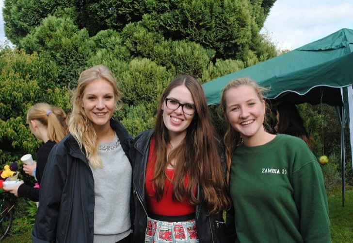 Photo of Beth Craig-Green (centre) at Apple Day