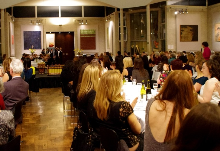 Photo of a formal hall at Murray Edwards College