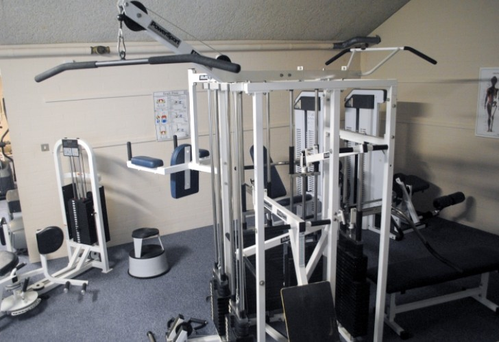 Photo of equipment at the Murray Edwards College gym