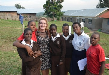Photo of student Eleanor Deeley in Western Uganda