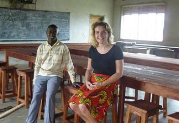 Eleanor Deeley in Western Uganda
