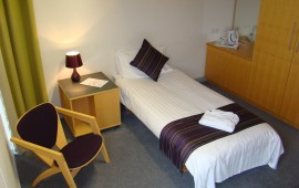 Photo of a student bedroom in Buckingham House
