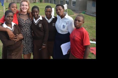 Photo of student Eleanor Deeley in Western Uganda
