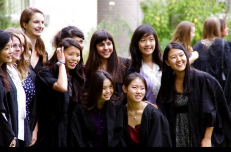 Photo of students at matriculation