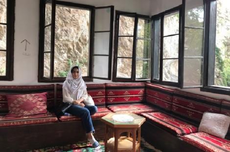 Maha sitting in a mountainside Sufi monestary